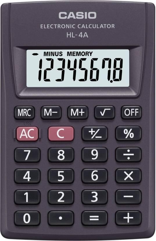 Casio HL-4 A Basic  Calculator