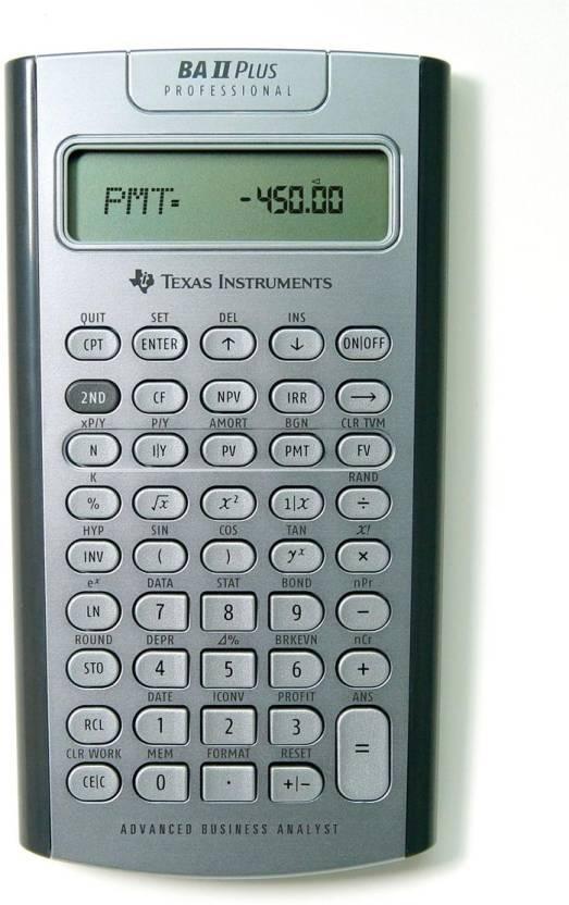 Texas Instruments BA II Professional Financial  Calculator