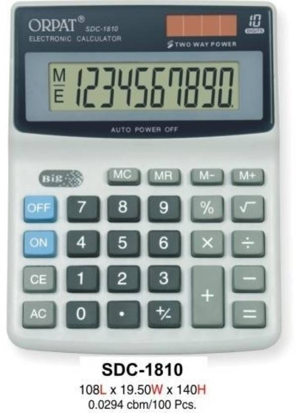 Orpat SDC 1810 Basic  Calculator