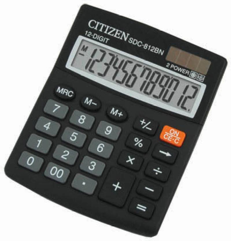 Citizen SDC-812 BN Basic  Calculator