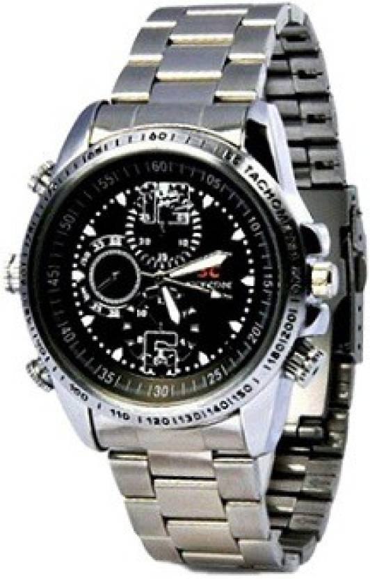 spydo Secrete Security Based Silver HD Camera Watch Spy Product Camcorder