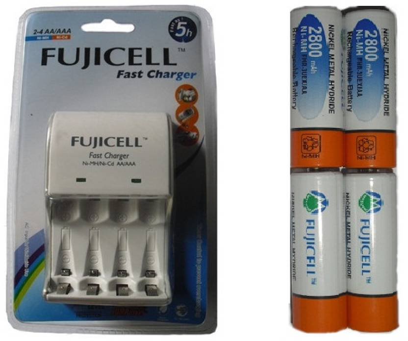Fujicell BC1002 Battery Charger (with 4 x 2800 mAh Rechargeable Battery)  Camera Battery Charger