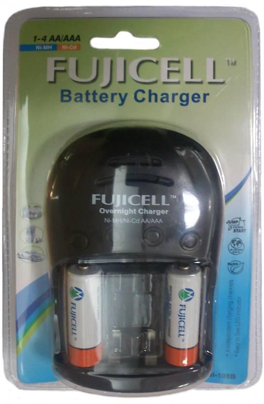 Fujicell FUJI-108B (With 2 Ni-MH AA 2100 Batteries)  Camera Battery Charger