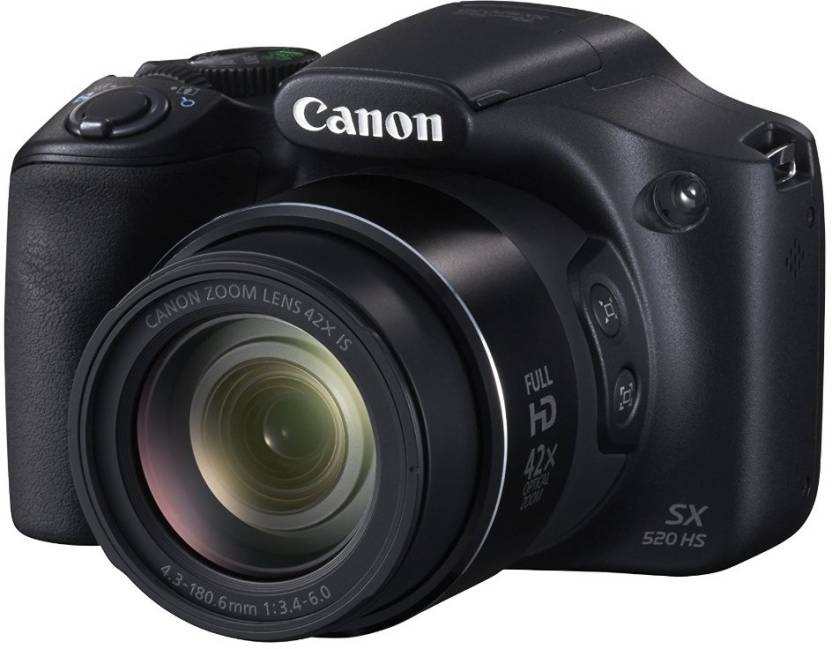 Canon PowerShot SX520 HS (With 8 GB SD Card + Camera Bag)