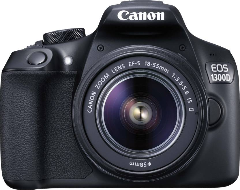 Canon EOS 1300D DSLR Camera Body with Dual Lens: EF-S 18-55 mm IS II + EF-S 55-250 mm F4 5.6 IS II (16 GB SD Card + Camera Bag)