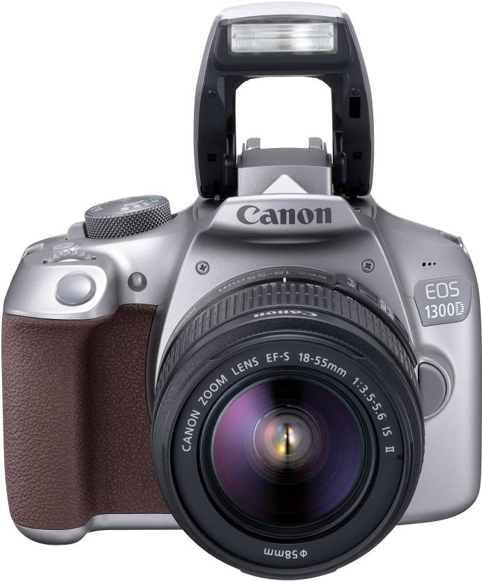 Upto 45% Off On Cameras & Accessories By Flipkart | Canon EOS 1300D DSLR Camera (Body with EF-S 18 - 55 IS II)  (Grey) @ Rs.22,499