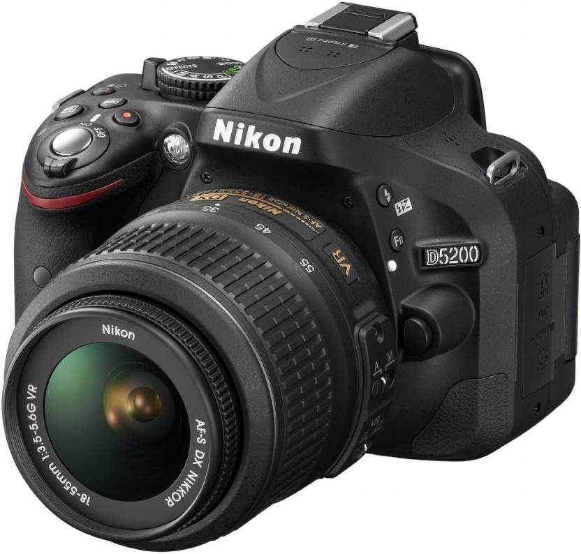 Nikon D5200 (Body with AF-S DX NIKKOR 18-55 mm F/3.5-5.6G VR II Lens) DSLR Camera  (Black) @ Rs.26,999f