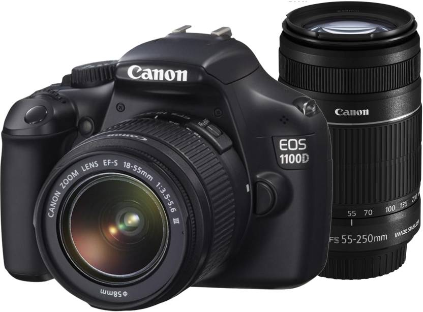 Canon EOS 1100D DSLR Camera (Body with EF-S 18-55 mm IS II & EF-S 55-250 mm Lenses)