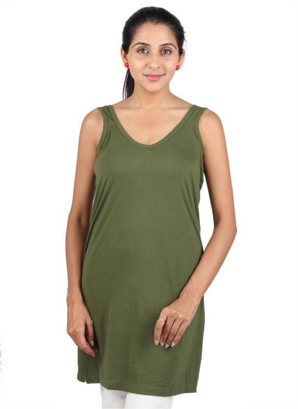 edf87f084 Splash Women's Chemise - Buy Mehndi Green, Olive Green Splash Women's  Chemise Online at Best Prices in India | Flipkart.com