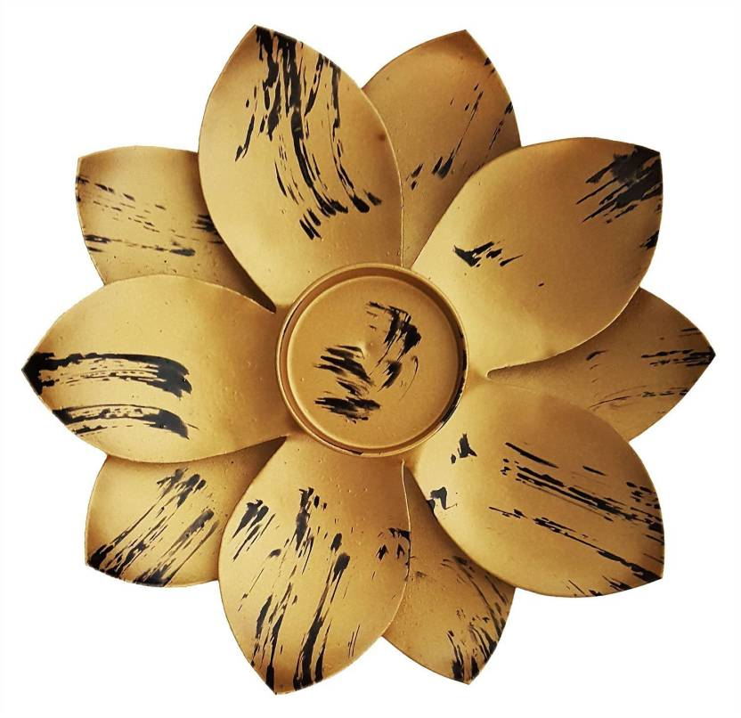 Mehrunnisa Lotus Flower Shape Votive Tea Light Holder Iron Tealight