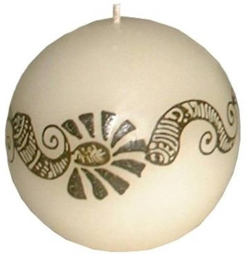 Indigo Creatives Classy Henna Mehendi Festive Pattern Wax Ball Shape