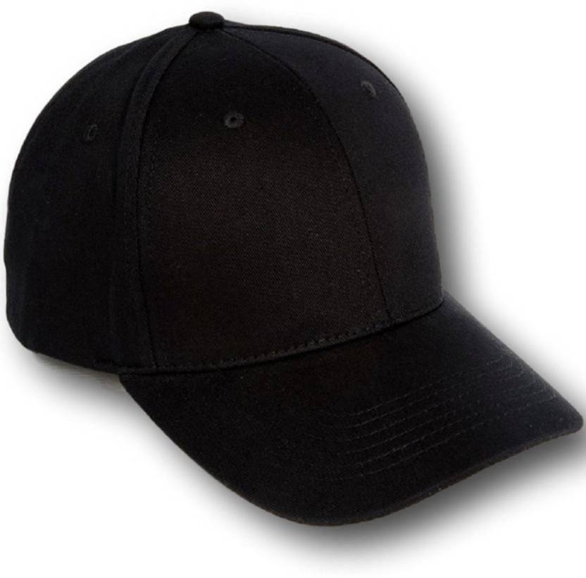 4cae367ad ALAMOS Black Nylon Plain Baseball Cap - Buy ALAMOS Black Nylon Plain  Baseball Cap Online at Best Prices in India | Flipkart.com