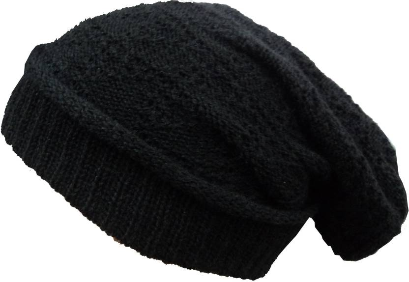 Gajraj Solid Beanie Cap - Buy Black Gajraj Solid Beanie Cap Online at Best  Prices in India  93244be78ea