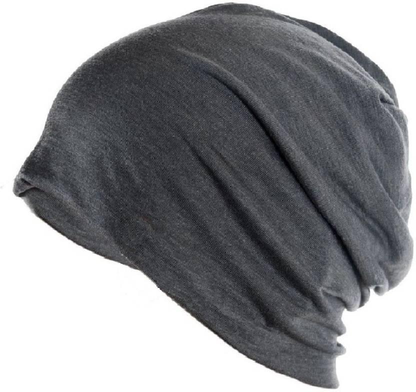 05d66240983 Gajraj Solid Beanie Cap - Buy Grey Gajraj Solid Beanie Cap Online at Best  Prices in India