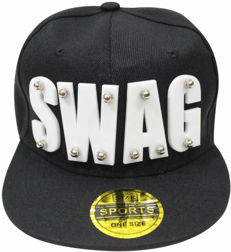 ff8fd08e0e1 TakeInCart Swag Self Design Snapback Cap Cap - Buy Black-White TakeInCart  Swag Self Design Snapback Cap Cap Online at Best Prices in India