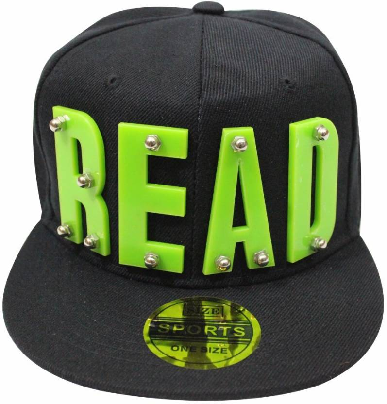 8608ee85c2c TakeInCart Read 3D Self Design Snapback Cap Cap - Buy Black-Green TakeInCart  Read 3D Self Design Snapback Cap Cap Online at Best Prices in India