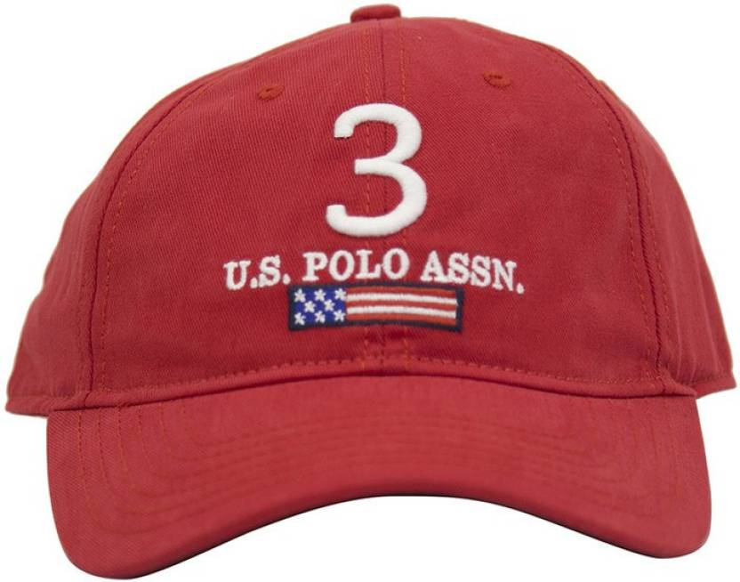 89f32af5f6f55 U.S. Polo Assn Solid Round Cap - Buy Red U.S. Polo Assn Solid Round Cap  Online at Best Prices in India