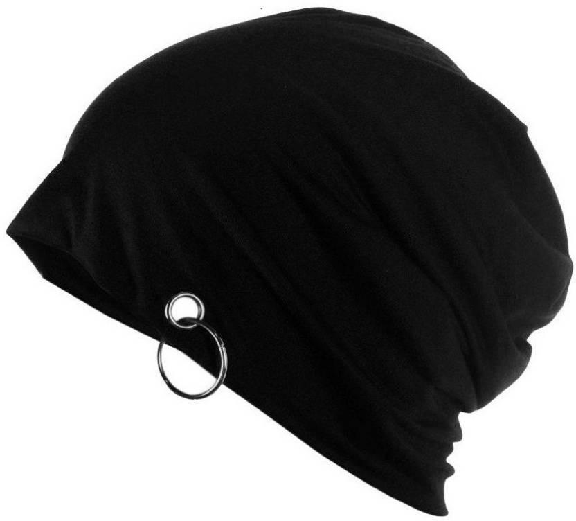 Babji Beanie Cap with Ring Cap - Buy Black Babji Beanie Cap with Ring Cap  Online at Best Prices in India  301d7f4fd09