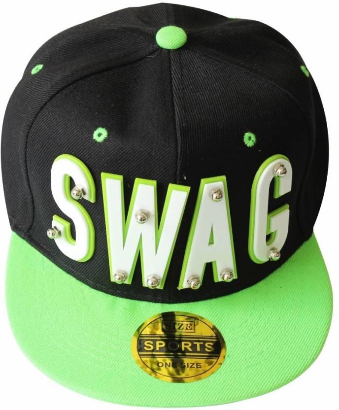 c442041dbc964 TakeInCart Snapback Self Design Swag Cap - Buy Black TakeInCart Snapback  Self Design Swag Cap Online at Best Prices in India