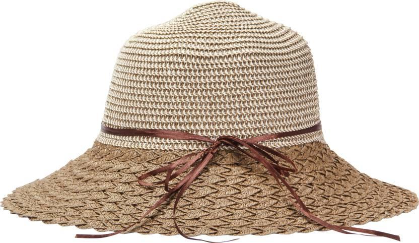 bc75b38a2 FabSeasons Solid Beach Hat, Women Hat, Girls Hat Cap - Buy Brown ...