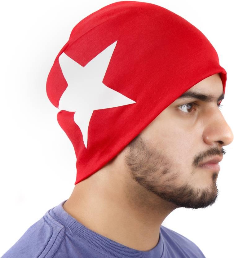 Noise Red Salute Beanie Printed Skull Cap