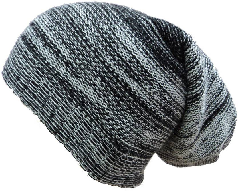 ea94e33d5 sovam soft famous Winter Woolen Long Cap - Buy Black sovam soft famous  Winter Woolen Long Cap Online at Best Prices in India