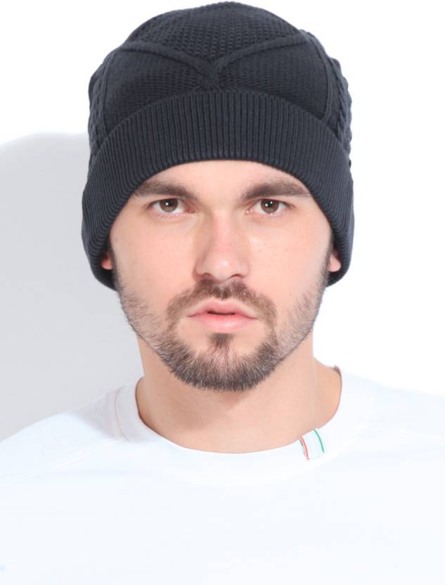 U.S. Polo Assn Self Design Skull Cap - Buy Dark Grey U.S. Polo Assn Self  Design Skull Cap Online at Best Prices in India  0ca67696790
