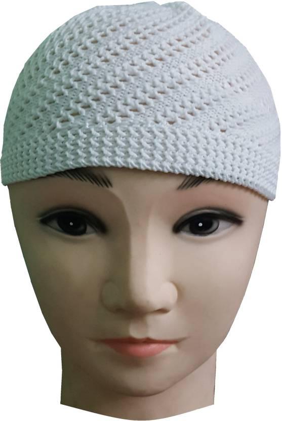 934e2c781d73f Atabz skull namaz Islamic Cap - Buy white Atabz skull namaz Islamic Cap  Online at Best Prices in India | Flipkart.com