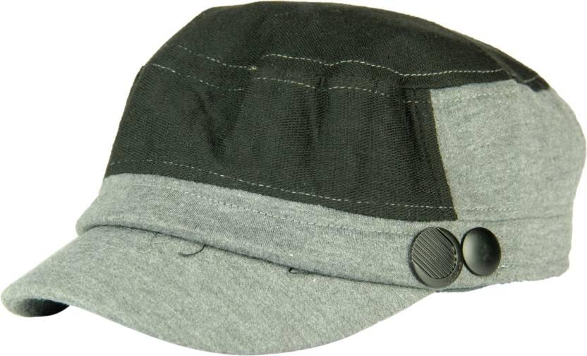 ceb6872601e FabSeasons Solid Fancy Cap Cap - Buy Grey FabSeasons Solid Fancy Cap Cap  Online at Best Prices in India