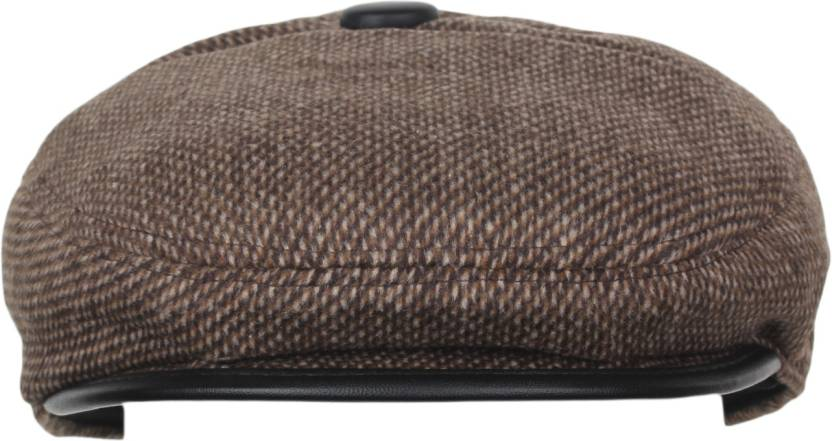 f5e817c22b6 Alvaro Self Design Golf Cap - Buy Brown Alvaro Self Design Golf Cap Online  at Best Prices in India