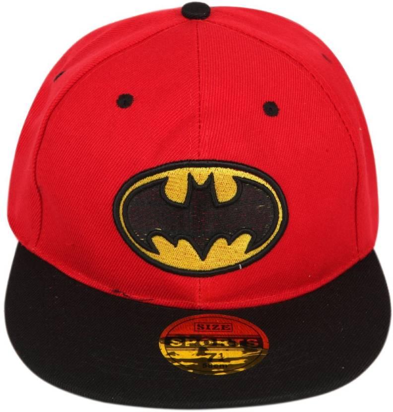 18b71378cf8 ILU Solid Batman caps red cotton