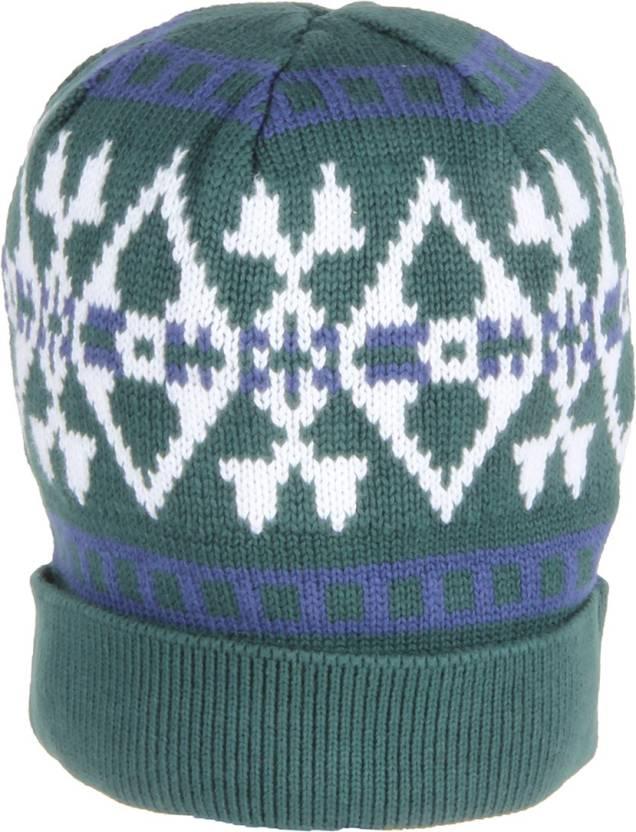 494036636 U.S. Polo Assn Self Design Skull Cap - Buy Trekking Green U.S. Polo ...