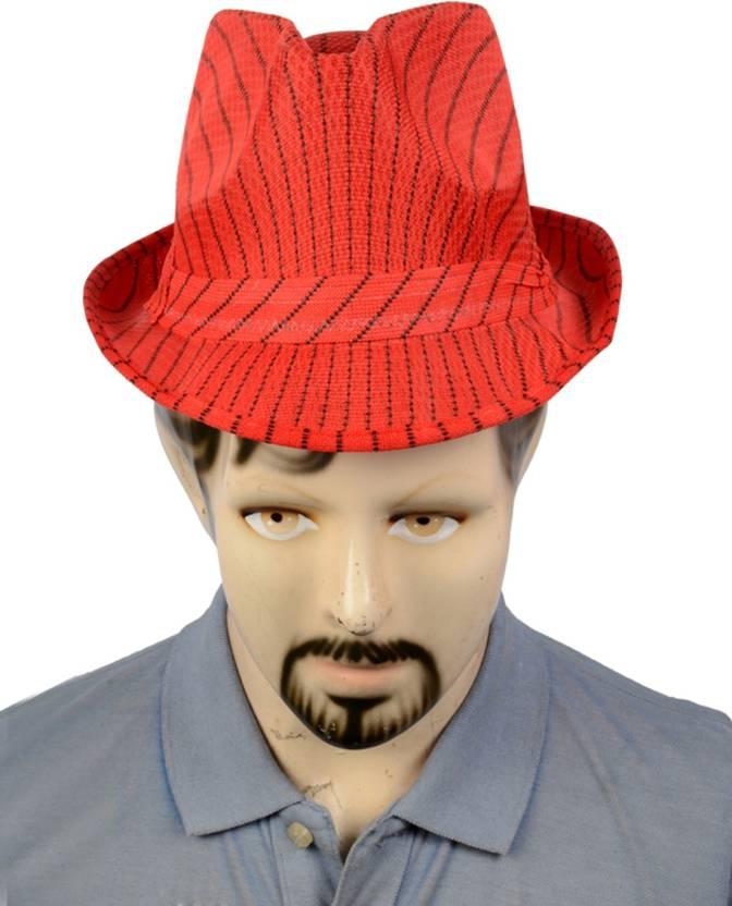 61ccc3d7ff0 Urban Style Emporium Woven Skull Hat Cap - Buy Red   Black Line Urban Style  Emporium Woven Skull Hat Cap Online at Best Prices in India