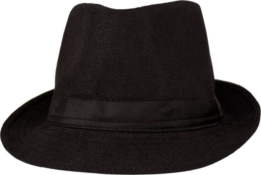 Florence9 Solid Fedora Cap - Buy Black Florence9 Solid Fedora Cap ... db3c9cfe161