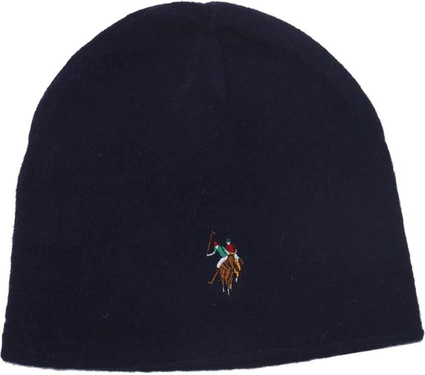 U.S. Polo Assn Solid Beanie Cap - Buy Navy U.S. Polo Assn Solid Beanie Cap  Online at Best Prices in India  5ef5b1eb6bb
