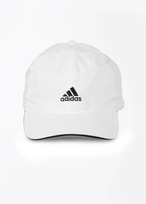 ffb7d95a352 ADIDAS Solid 183 Cap - Buy WHT WHT BLACK ADIDAS Solid 183 Cap Online at  Best Prices in India
