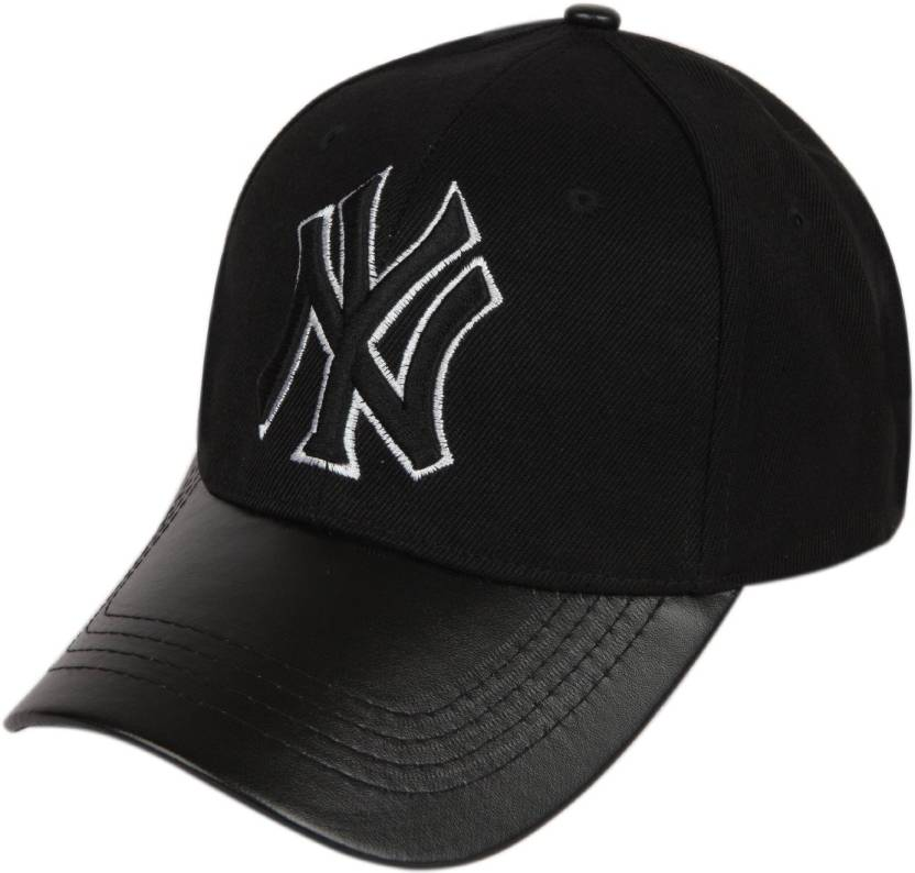 ILU Solid NY caps black cotton leather ce3f96800e6