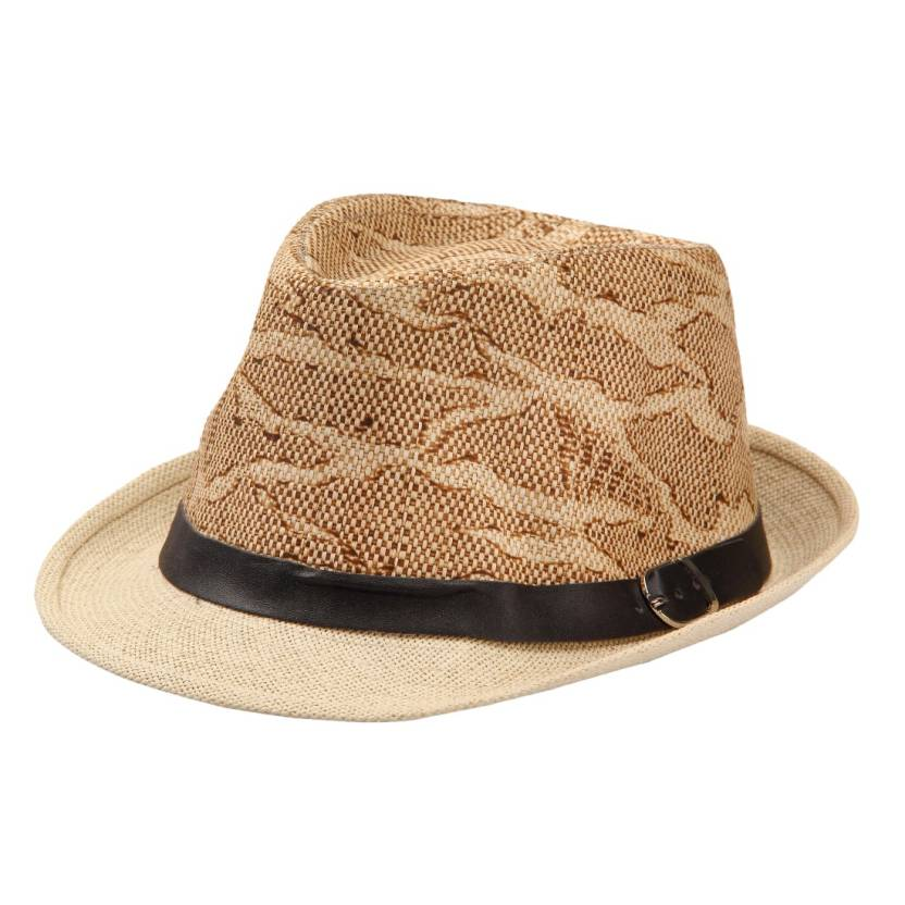 46e701ebd17 FabSeasons Self Design Fedora Hat Cap - Buy Khaki FabSeasons Self Design Fedora  Hat Cap Online at Best Prices in India