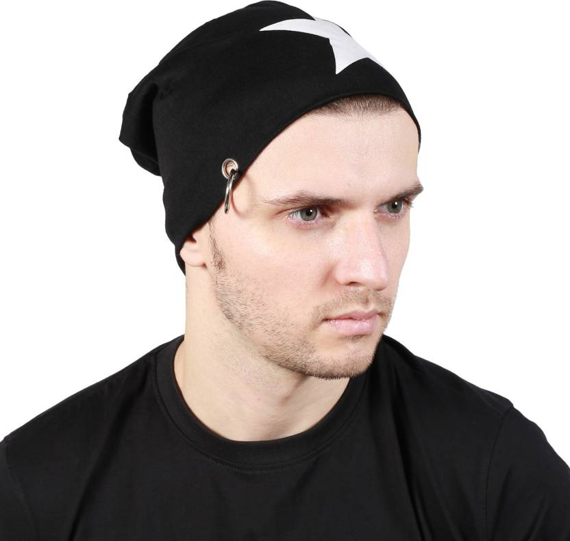 d23dc6ac590 Noise Black Salute Beanie With Ring Printed Skull Cap - Buy Black ...