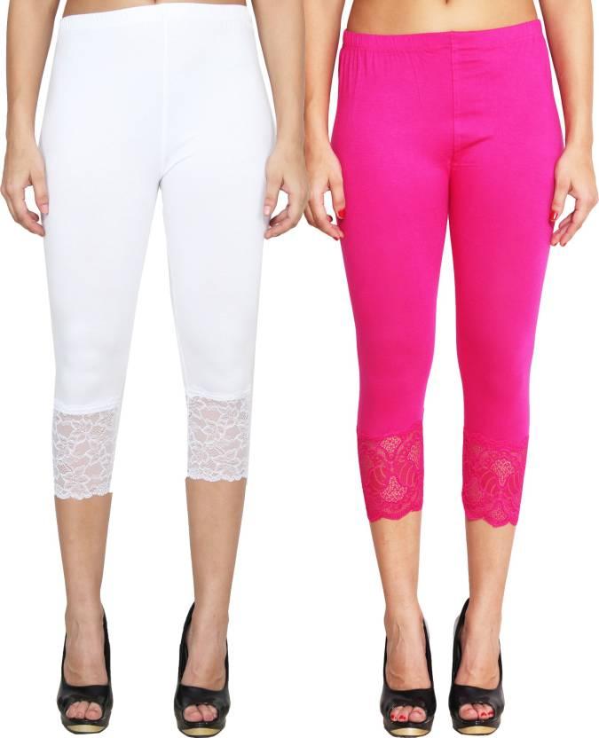 080e29401dbb1 LGC Women's White, Maroon Capri - Buy White, Majenta LGC Women's White,  Maroon Capri Online at Best Prices in India | Flipkart.com