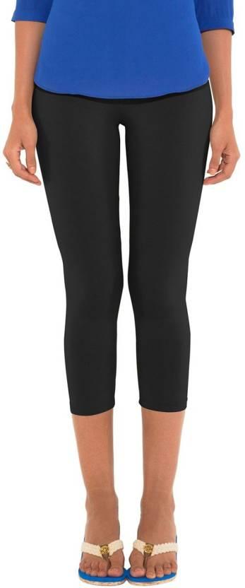 82c67a06563b3 Go Colors Ladies 3/4 Leggings Women's Black Capri - Buy Black Go ...