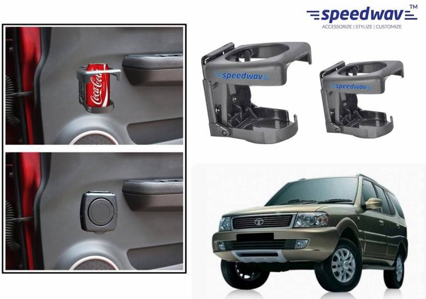 f4c1f77a1b4a Speedwav Foldable Car Drink Set Of 2 GREY-Tata Safari Dicor 2.2 Car Bottle  Holder (Plastic)
