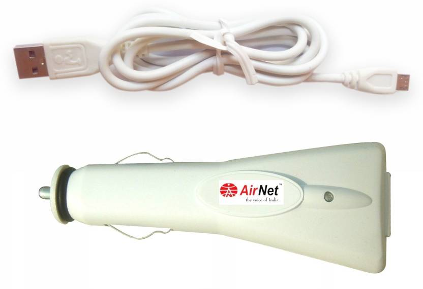 Airnet 1.0 amp Car Charger(White)