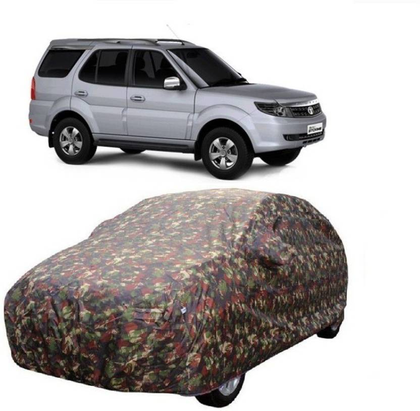3cab19b6d051 MotRoX Car Cover For Tata Safari Storme (With Mirror Pockets) (Multicolor)