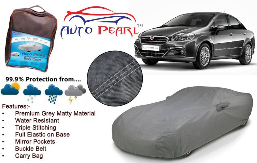 Auto Pearl Car Cover For Fiat Linea With Mirror Pockets Price In