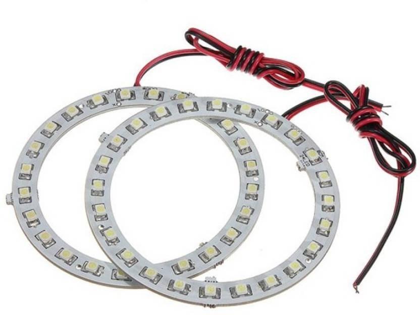 AutoStark Angel Eyes LED Ring Light Bikes Headlight Blue Set 2