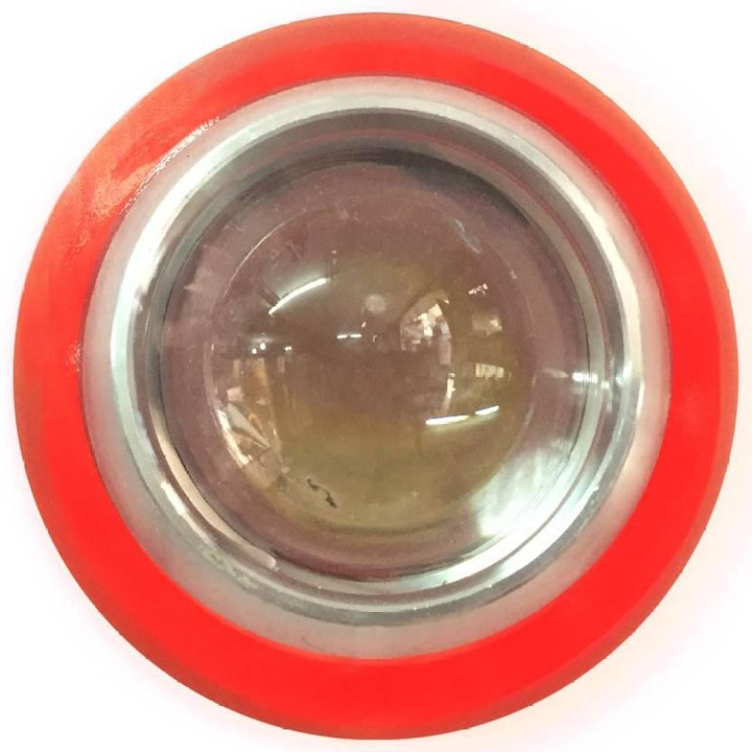 Vheelocityin Reflector Car LED Fog Lamp Fog Light Red Ring Set
