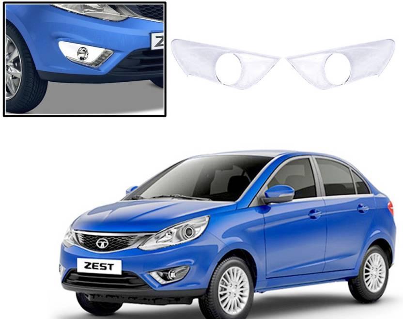 Auto Pearl Premium Quality Chrome Plated Fog Lamp Cover For Tata