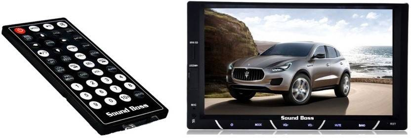 Sound Boss Double Din Bluetooth Car Video Player 7 Hd Touch Screen