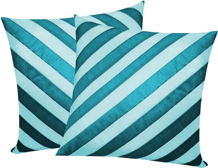 Zikrak Exim Striped Cushions Cover